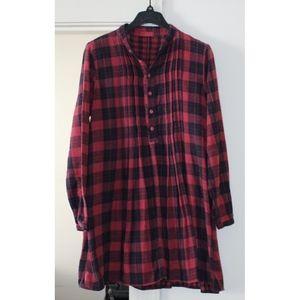 CP Shades Regina Tunic, Red Plaid, Cotton *Flannel
